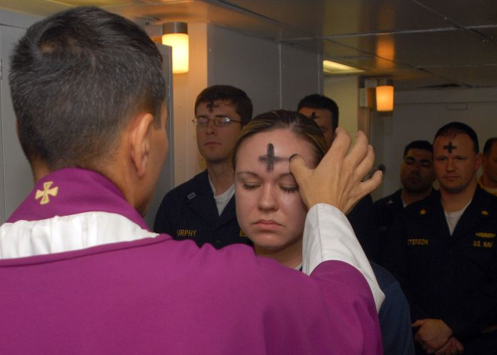 2048px-US_Navy_080206-N-7869M-057_Electronics_Technician_3rd_Class_Leila_Tardieu_receives_the_sacramental_ashes_during_an_Ash_Wednesday_celebration