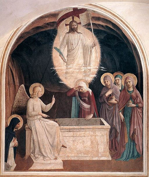 Fra_Angelico_-_Resurrection_of_Christ_and_Women_at_the_Tomb_(Cell_8)_-_WGA00542 (1)