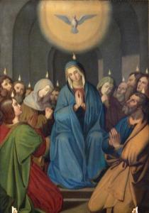 Merazhofen_Pfarrkirche_Josephsaltar_Altarblatt_Pfingstwunder